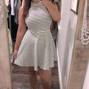 MinkPink medium striped summer halter dress